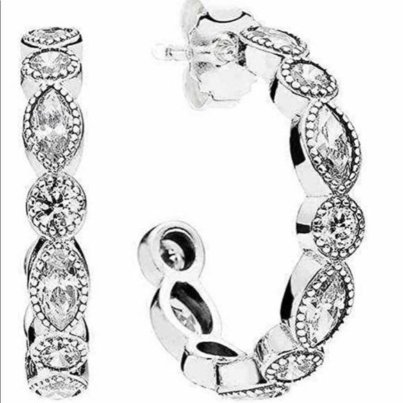 Pandora Jewelry - Pandora Alluring Brilliant hoop earrings